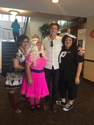 Volunteers at Parsons House Preston Hollow dressed up for Halloween