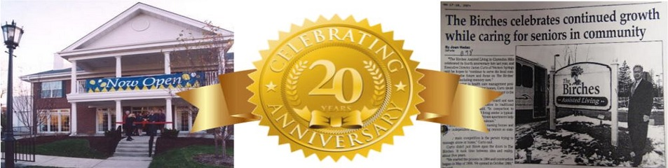 Images of The Birches celebrating twenty years of service