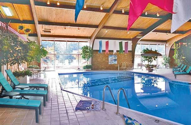 Indoor pool 3 new furn