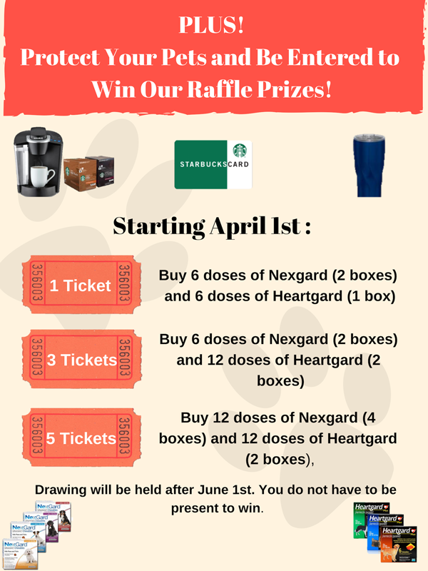 April Raffle promotion