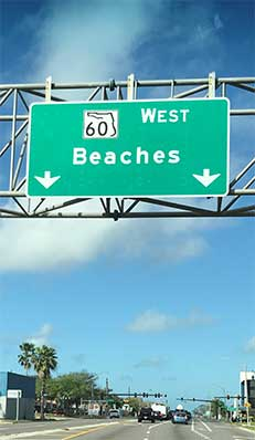 Sign beaches