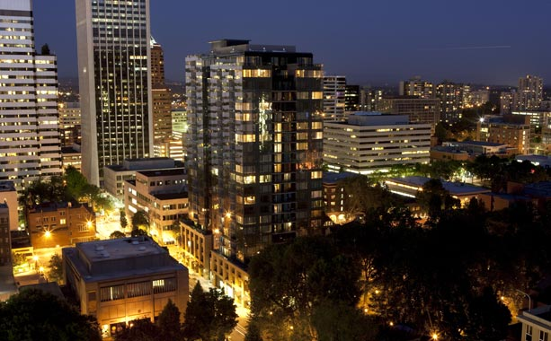 Beautiful Portland, Oregon, apartments for rent downtown.