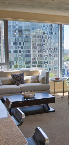 Luxury apartments with a great view in downtown Portland, Oregon.