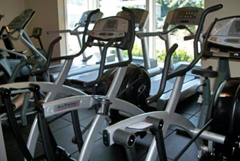 Portage Pointe Apartment Homes features a state of the art fitness center.