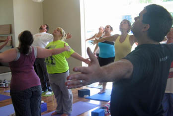 Portage Pointe Apartment Homes in Streetsboro offers fitness classes for residents