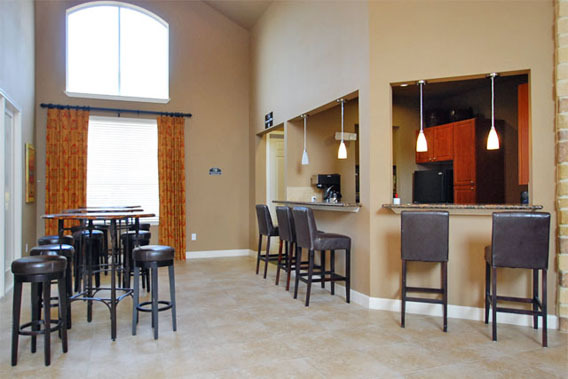 Houston, TX apartment community room at The Abbey at Briar Forest