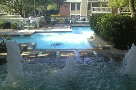 Lincoln oaks apartments for rent with pool and waterfall