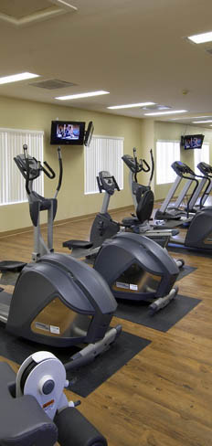 The fitness center at Lowry Heights in Denver, Colorado