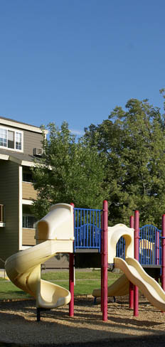 The playground at Lowry Heights in Denver, Colorado