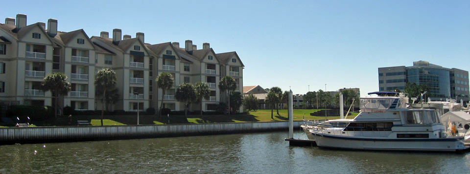 The Moorings Apartments in League City, TX has a boat dock for residents
