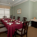 Private dining in a brighton ma retirement community at Chestnut Park at Cleveland Circle