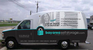 Free use of Bay Area Self Storage moving truck