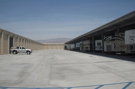 Drive Up Access for our Indio RV & Car Storage facility