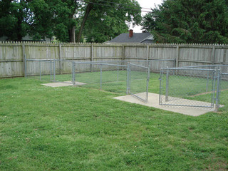 Outdoor exercise area in owensboro ky animal hospital