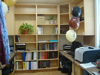 Office with balloons at West Hills Animal Hospital