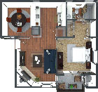 The floorplan for The Sunstone