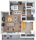 The floorplan for Plan A