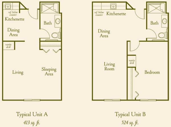 Floor plans assisted living in california mission hills for Senior house plans