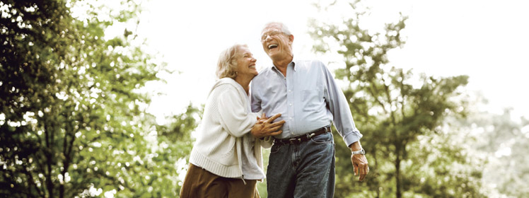 Stroll among the luscious grounds at Westmont Living Senior Care.