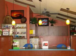 Lobby front counter University Animal Clinic