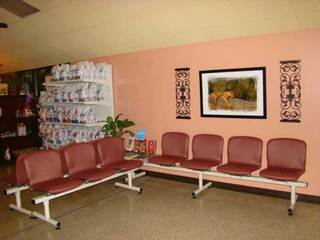 Lobby with food University Animal Clinic