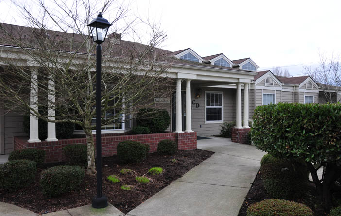 building entrance at hospice care in beaverton or