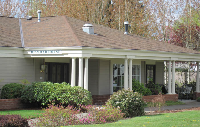 view of building in eugene or of assisted living facillity
