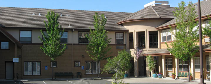 Senior Living entrance in Pinole