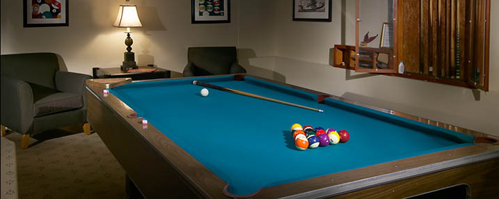 Play billiards at the Senior Living Facility in Chico