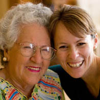 Senior living caregiver with Morningside House of Ellicott City resident in Ellicott City,  MD.