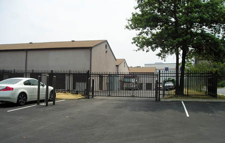 Storage units behind security gate Silver Spring Maryland.