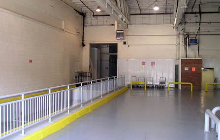 Indoor loading dock at Wallington Rutherford Storage, NJ