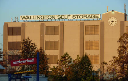 Storage facility and clock tower at Wallington Self Storage Wallington NJ 07057