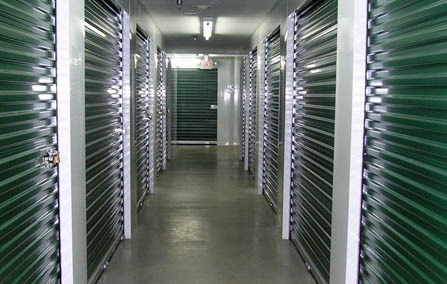 Interior storage units at Cheverly Self Storage in Hyattsville.
