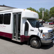 The bus at Vestal, NY assisted living community