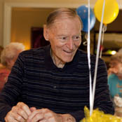 Greenwood in assisted living smiling resident The Hearth at Stones Crossing