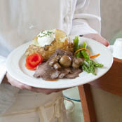 Nutritious meals served at The Hearth at Sycamore Village retirement community