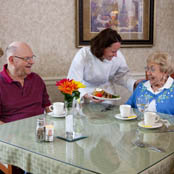 Seniors dining independent living granger in The Hearth at Juday Creek