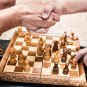 Senior residents enjoy playing chess