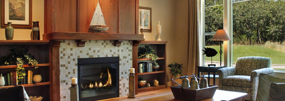 Fireplace fgl Oakmont Senior Living