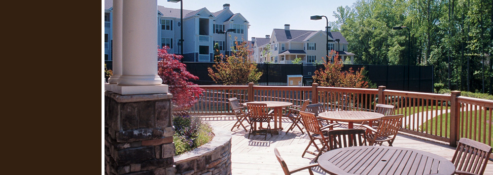 The Preserve at Deerfield apartments in alpharetta, ga with a nice patio.