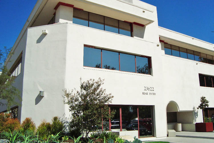 Commercial building for lease in Calabasas CA rear entrance