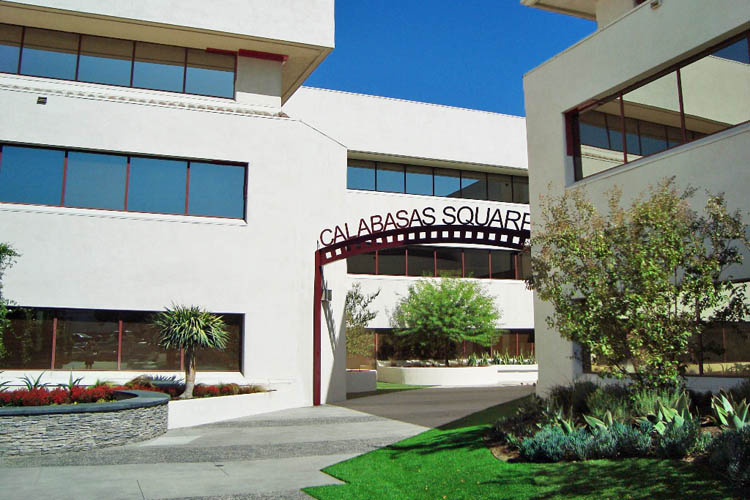 Entrance to business property for rent at Calabasas Square in CA
