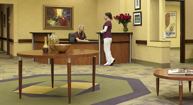 Reception area Garden View Care Center of Chesterfield