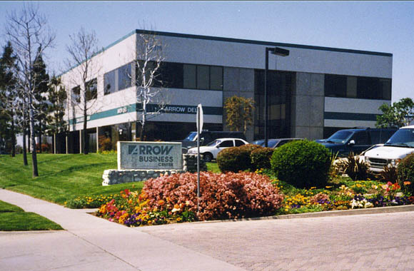 Business park driveway in rancho cucamonga