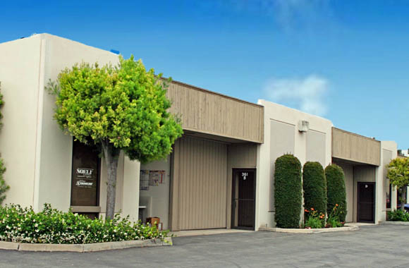 Exterior view of commercial properties for lease in Brea CA