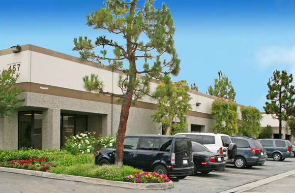 Parking close to office warehouse rental space at San Dimas Business Center