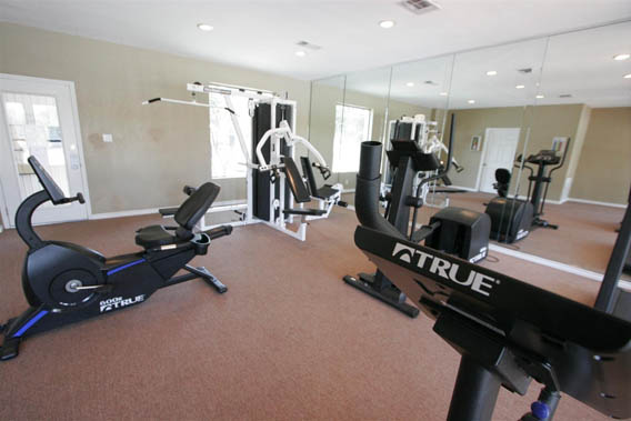 The fitness center at Georgetown Park Apartments