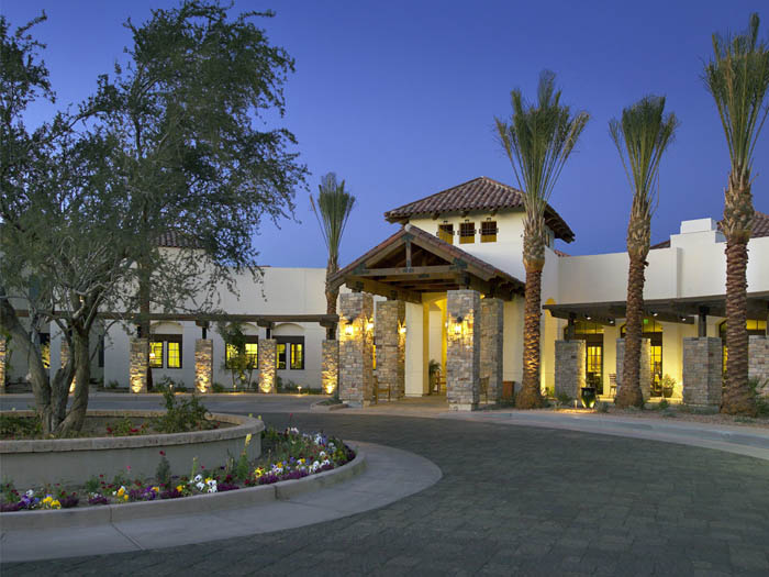 Chandler arizona assisted living community entrance The Village at Ocotillo