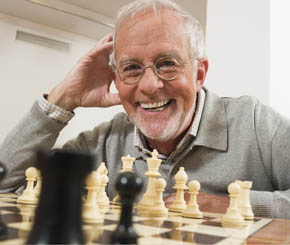 Chess man choosing a community at Senior Resource Group LLC